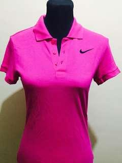Never worn Authentic Nike Pink Collar Shirt