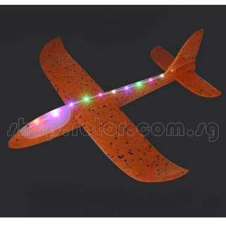 🚚 With lights, 48cm EPP Foam Hand Launch Airplane, Flyback and Straight Fly, Orange. Code: FAL-EPP48-O