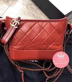 CHANEL GABRIELLE SMALL CALFSKIN Red