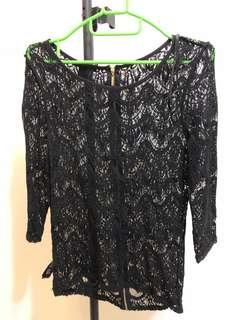 Black Lace Top forever 21