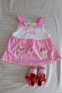 Boardwalk dress and crib shoes