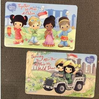 Set of 2s: Precious Moment x Precious Thots 2018 Event Ezlink Cards + FREE Post