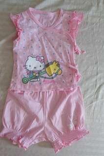 Sanrio baby top and shorts