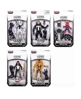 Marvel Legends Venom, Poison Spider-Man, Spider-Ham, Scream, Typhoid Mary
