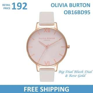 Olivia Burton Ladies Watch Big Dial Blush Dial & Rose Gold OB16BD95