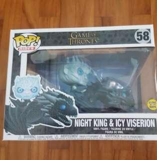 Funko Pop Game of Thrones Night King Icy Viserion