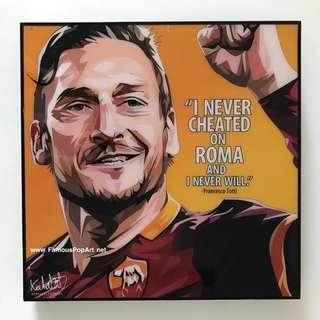 AS ROMA Francesco Totti PopArf! Portrait Pop Art