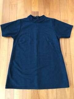 Navy Blue Trapeze Top