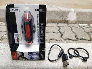 RAPID X USB Rechargable Bicycle Light (Red)