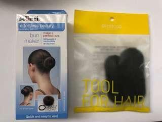 Hair bun maker and secret volume hairpin