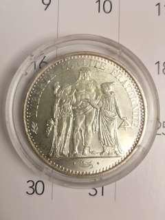 10 Franc silver coin france 1965