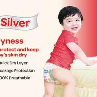 Huggies Pants Silver (M) -pcs