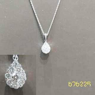 18K白金鑽石吊咀(連鍊)