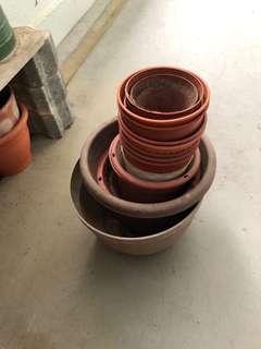 Used plastic pots