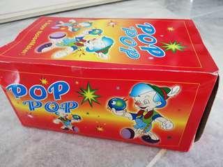 Pop pop fire crackers