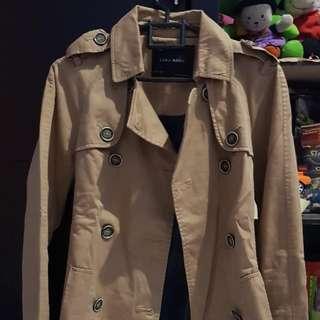 FS Zara Basic Trench Coat sz S