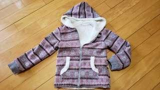 超暖冷外套 內裏全毛毛 9成新  140碼