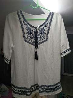 bohemian embroided top