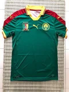 Puma 💯% Authentic Cameroon home jersey for SGD$62 (size S)