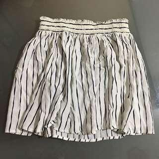 Black and White Striped Skirt Forever 21
