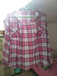 cotton on red checkered flannel