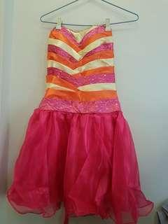 Customized Cocktail Gown with Trail