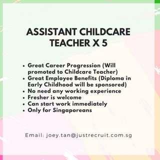Assistant Childcare Teacher x 2