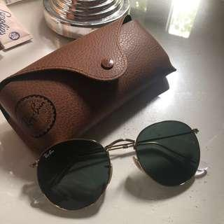 Rayban round metal sunglasses BRAND NEW WITH CASE AND BOX