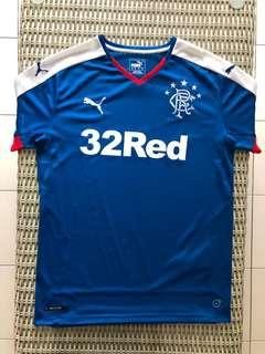 Puma💯% Authentic Glasgow Rangers home jersey for SGD$27 (size S)