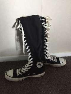 Over the knee converse