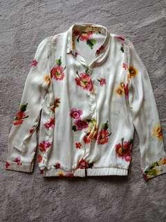 Silky floral blouse