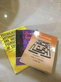 Psychology books 3 for 100