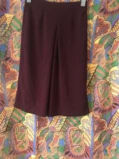 Forever 21 maroon 7/8 pants