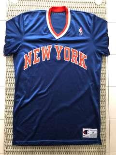 Champion💯% Authentic New York Knicks retro jersey for SGD$57 (size M)