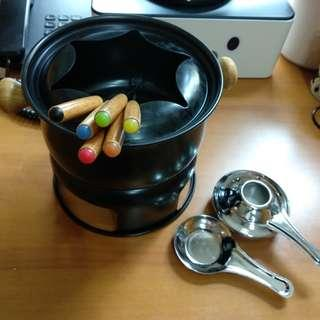 Black Mini Fondue Set