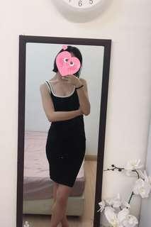 Zara B&W Contrast Dress