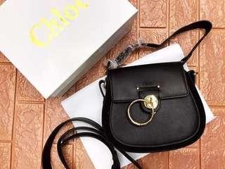 Chloe Small Leather Suede Shoulder Bag