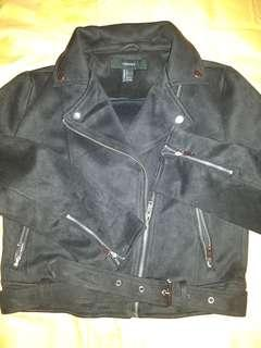Forever21 Faux suede moto jacket ori