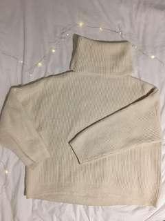 Turtleneck sweater white (H&M)