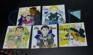 [Detroit: Become Human] Square stickers