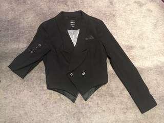 Tailored black blazer