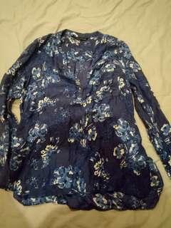 ZARA long sleeved blouse