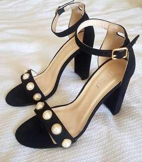 Verali Pearl Studded Heels Size 8