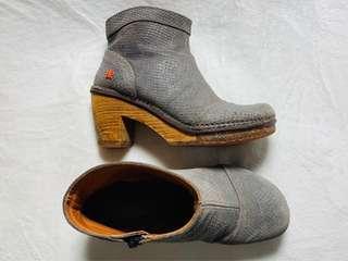 """Grey Suede Bootie with 2.5"""" platform heel"""