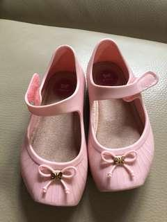 90% new Zoxy baby pink plastic shoes 九成新Zoxy粉紅BB囡膠鞋
