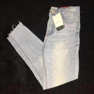 STRADIVARIUS light blue sipped jeans
