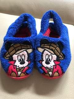 70% new baby Mickey Mouse warm slippers 七成新BB冬季拖鞋