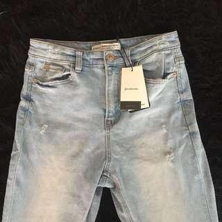 STRADIVARIUS light blue ripped jeans