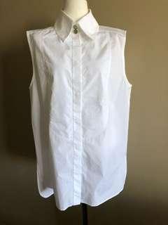 Chanel white cotton shirt, size 42,Aus 12-14