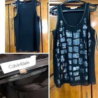 Calvin Klein Black sleeveless top Small